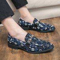 Мода дизайнерская буква печатает свадебные туфли для мужчин черный плоский человек вечеринки платья формальная домашняя обувь PROM