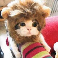 Kot Lion Mane Pet Lion Kostium Pet Lion Włosy Peruka dla psów Koty Zwierzaki Halloween Boże Narodzenie Party Prezent 188 V2