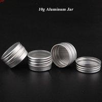 Jarre cosmétique en aluminium Visible de 10g, bouchon avec fenêtre, boîte de pot en métal portable de haute qualité de haute qualité F20171357HIGHIQUE