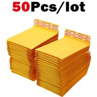 50pcs lot Kraft Bubble Mailers Poly Express Envelopes with Bag Mailer Mailing Bags Padded Envelope Packaging O5GO