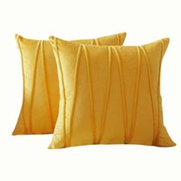 Pillow Case Striped Pillowcase Home Bedroom Embroidered Solid Color Velvet Sofa Plush Cushion Cover