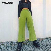 Женские брюки CAPRIS WKOUD Streetpants Мода Сплошные прямые повседневные HIPHOP Candy Color Phownpants 2021 Сексуальные брюки P9002