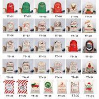 Derniers styles Sacs-cadeaux de Noël Grand sac à cordon de cordon Santa Sac Santa Sana San avec Reindeers Sea Shipping DWB9192