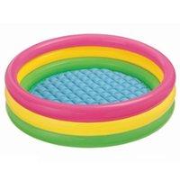 Summer PVC Tre Layerininflatable Pool Ball Balla Bambino BabyTub Soft Circular Basin Sicurezza Soggetti da nuoto resistente all'usura Letto a galleggiante Accessori