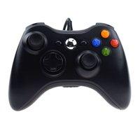 Controladores de juegos con cable USB Gamepad Joystick Game Pad Pad Doble Motor Controlador de choque para PC / Microsoft Xbox 360