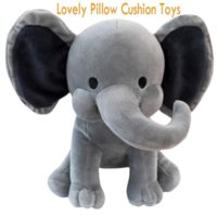 Dhl الشحن الاطفال الفيل لينة وسادة محشوة دمية لطيف الراحة الطفل الفيل أفخم لعبة الفيل النوم وسادة دعم هدية عيد 496