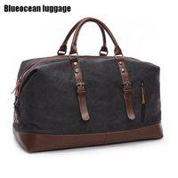 Duffel Bags Men Canvas Overnight Travel Leisure Handbags Shoulder Large Capacity Luggage Wild Bag 4573