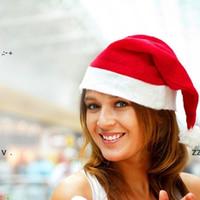 Noel Noel Baba şapkalar kırmızı ve beyaz kap parti şapkalar için Noel Baba kostüm Noel dekorasyon çocuklar için yetişkin Noel şapka BWF11103