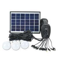 Solar Lamps Portable Generator 5W Panel Camping 3 X Garden Light 8LED Bulbs Lighting System+Power Bank,Hiking,Camping Led Lamp