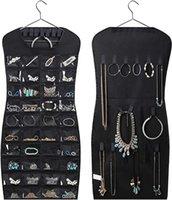 Kuulee 30 Pocket 24 교수형 루프 저장 가방 보석 홀더 목걸이 팔찌 귀걸이 링 주최자 쥬얼리 가방 83 * 45CM1 1403 T2