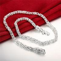 Мужские стерлинговые серебристые новые новые головки дракона цепи ожерелье 20 дюймов * 5 мм GSSN048 мода прекрасный 925 серебряная тарелка украшенные ожерелья ожерелья