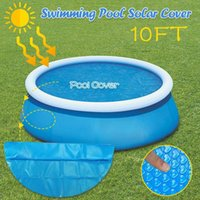 8 10ft Round Pool Cover Protector Above Ground Blue Protection For Inflatable Swimming Outdoor Bubble Blanket Accessories &