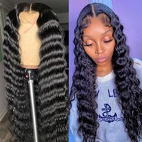 Lace Wigs Deep Wave Natural Color 13x4 Front Human Hair For Black Women Brazilian Remy Pre Plucked Bleached Kots