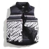패션 남성 조끼 면화 양복 조끼 디자인 망과 여성의 민소매 재킷 복어 가을 겨울 캐주얼 코트 커플 조끼 따뜻한 코트 유지