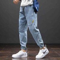 2021 New Summer Solid Cato Casual Baggy Jeans Men Denim Joggers Streetwear Harem Jeans Broek Size 6XL 7XL 8XL