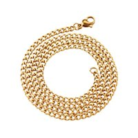 Chains 10Pcs 304 Stainless Steel Necklace Cuban Link Curb Chain Chokers For Men Women DIY Jewelry Making Accessories 17.72 Inches(45cm)