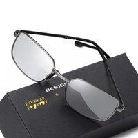 Óculos de sol Pesca masculina Polarizada Pocomático dobrável Outdoor Night Vision Driving Chameleon Lens Sun Glasse