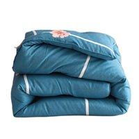 Утешители утешителей Yovepii зимний утешитель утолщение синего одеяла с фаршированным микрофибрым лоскутное одеяло теплые спальные крышки пастырский стиль PR
