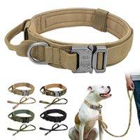 Collier de chien tactique durable en nylon de nylon militaire de nylon de nylon de la laisse pour des chiens moyens gros chiens allemands chasse à la chasse à la chasse au berger
