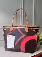 Jeu sur mm fourre-tout sac mode classique sacs à main femmes sac à main avec poche portefeuille M57452 Top Qualité Femme Fleurs Fleurs Beach Sac à main Mère Sacs à bandoulière