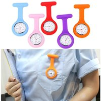 Wristwatches Silicone Fashion Nurses Watch Brooch Tunic Fob Pocket Stainless Dial Watches With Free Battery