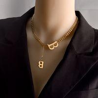 개인화 된 편지 B 별자리 펜던트 목걸이 사용자 지정 스테인레스 스틸 오래된 영어 목걸이 생일 보석 선물