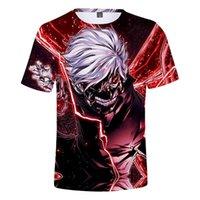 Rholycrawn Comic Tokyo Ghoul 3D футболка Мужчины / Женщины Мода Хип-хоп Принт Токио Гул 3D футболка Случайные мальчики Летние топы XXS-4XL