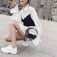 صافي زجاجة عطر أحمر 2020 جديد الكورية الأزياء سلسلة الكتف جميلة ins حقيبة صغيرة