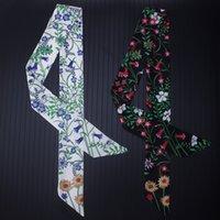 Bufanda de moda Slender Tie Wrap Bolsa Manija Seda Bufandas Pequeño Cinta Decoración Bolsa Cinturón Dama Bufandas Personalización
