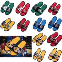 Basketball Star Sports Hausschuhe Marke Designer Mens Gummi Sandalen Strand Rutsch Rutschfeste Flip Flops Indoor Outdoor Schuhe Hohe Qualität Größe 40