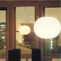 Kronleuchter GLO-Kugel Pendelleuchte Milchige ovale Glaskugel Kronleuchter Shop Bar Cafe Restaurant Design Suspensionslicht