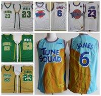 Mens St. Vincent Mary Lisesi İrlanda Lebron James Formalar Basketbol # 23 Dikişli Gömlek Tune Squad Looney Monstars Uzay Jam DNA Jersey