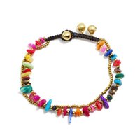 Double Layer Chain On Foot Anklets for Women Jewelry Charm Gold Color Beads Stone Ankle Bracelets Bohemian Beach Accessories