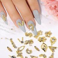 Nail Art Decorations 20 teile / los 3d legierung strass dollar zeichen bowknot pearl diy schmuck zubehör großhandel tropfen