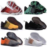 Haute Qualité Mamba 11 Elite Hommes Chaussures d'extérieur Bruce Lee FTB White Cheval blanc Achille Talon 11s Sports Sports Sneakers Taille 40-46