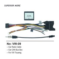 Car Radio Cable CAN BUS for Volkswagen VW Touareg 16pin Power Wiring Harness 2din DVD Android Multimedia Player Connector Socket