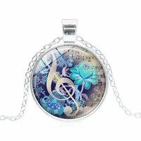 Collana pendente collana gioielli collana musica carattere triplo g clef nota gioielli corda catena per uomini donne regalo all'ingrosso