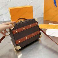 Designer punho caixa de tronco sacos de ombro messenger cruz saco de corpo monogramas em relevo logotipo de couro letras de couro mini bagagem m57971 m45785