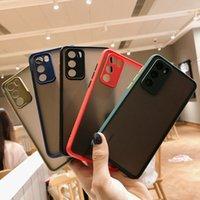 Полупрозрачные матовые ударопроходные чехоли для жесткого телефона для Huawei P40 P30 P20 P20 Mate 20 30 30Lite 40 честь 50 PRO 30S Camera Lens защита от прозрачной крышки