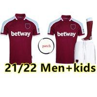 2021 2022 West Soccer Jersey Lingard Noble Ham Anderson United Rice Football Shirt Men + Kids Kit 125 Years 125th Inniversary