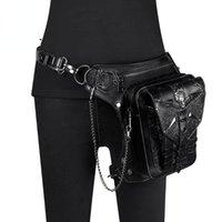 Waist Bags Lady Pockets Retro Messenger Punk Vintage Steampunk Crossbody Women Shoulder Waistbag Men Hombre Skull Rivet Travel Leg Bag