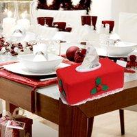 Tissue Boxes & Napkins Santa Claus Cover Christmas Home Dining Table Decor Kitchen Storage Napkin Dispenser Red Belt Buckle Car Paper Case
