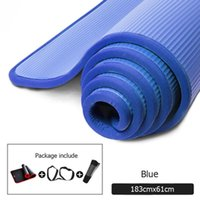 Yoga Mats 10mm Thickened Non-slip Tear Resistant NBR Fitness Gym Sports Gymnastic Pilates Pads With Mat Bag & Strap