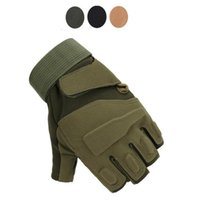 Militärische taktische Handschuhe Halbfinger Herren Mechaniker Navy Seals Delta Force Army Cycling Equipment