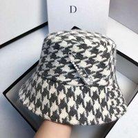 Kap Fibonacci Kış Emmer Şapka Kadınlar Kadınlar Güneş Başlık Bayanlar Zarif Plaka Kapaklar Strass Pin Rahat Houndstooth Kap