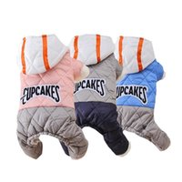 Dog Apparel Pets Hoodie Winter Pet Clothes Puppy Coat Jacket Cotton Thickening One-piece Warm