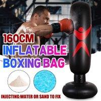 Sand Bag 160CM Training Fitness Vertical Inflatable Boxing PVC Thickening Pillar Tumbler Column Punching Tool