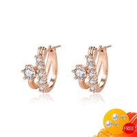 Dangle & Chandelier Charm Earrings For Women 925 Silver Jewelry With Zircon Gemstone Rose Gold Color Drop Wedding Party Gift Accessories