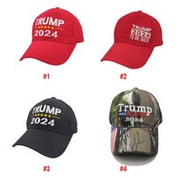 США Stock Trump 2024 Cap Вышитая бейсбольная шляпа с регулируемым ремешком для президентских выборов.