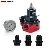 Epman 유니버설 조정 가능한 연료 압력 조절기 키트 알루미늄 0-160 PSI 게이지, AN6AN10 연료 피팅 어댑터 EPFPR717